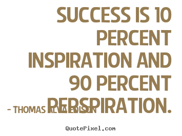 How to make picture quotes about inspirational - Success is 10 percent inspiration and 90 percent perspiration.