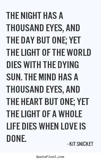 How to make picture quotes about love - The night has a thousand eyes, and the day but one; yet the light of the..