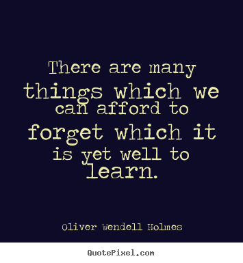 Oliver Wendell Holmes poster quotes - There are many things which we can afford.. - Success quotes