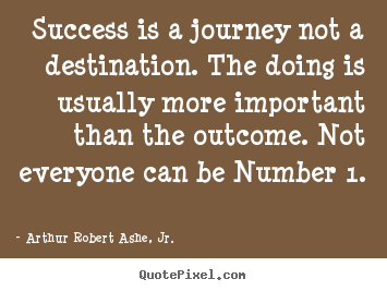 Create graphic picture quotes about success - Success is a journey not a destination. the doing..